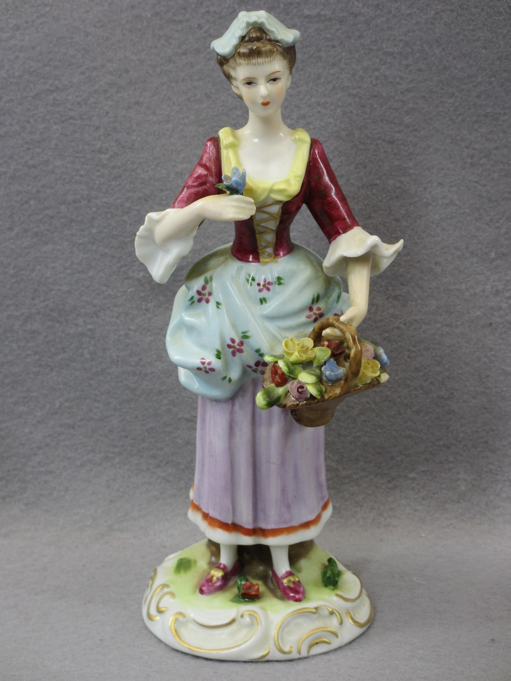 PORCELAIN & COMPOSITION CABINET FIGURINES, A COLLECTION including a Sitzendorf group of young man - Image 3 of 7
