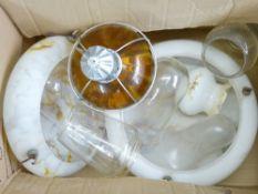 VINTAGE PENDANT CEILING LIGHT SHADES, lampshades, ornament domes, ETC