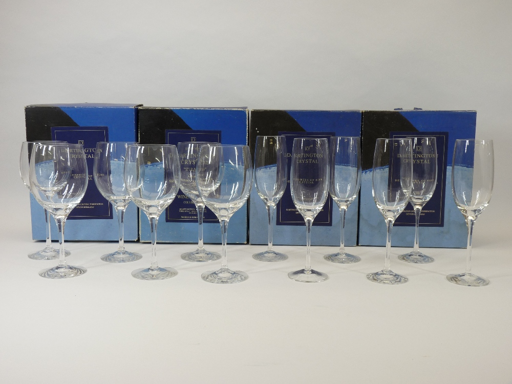 DARTINGTON CRYSTAL DRINKING GLASSES - one dozen mixed in original boxes along with a boxed Royal - Image 2 of 3