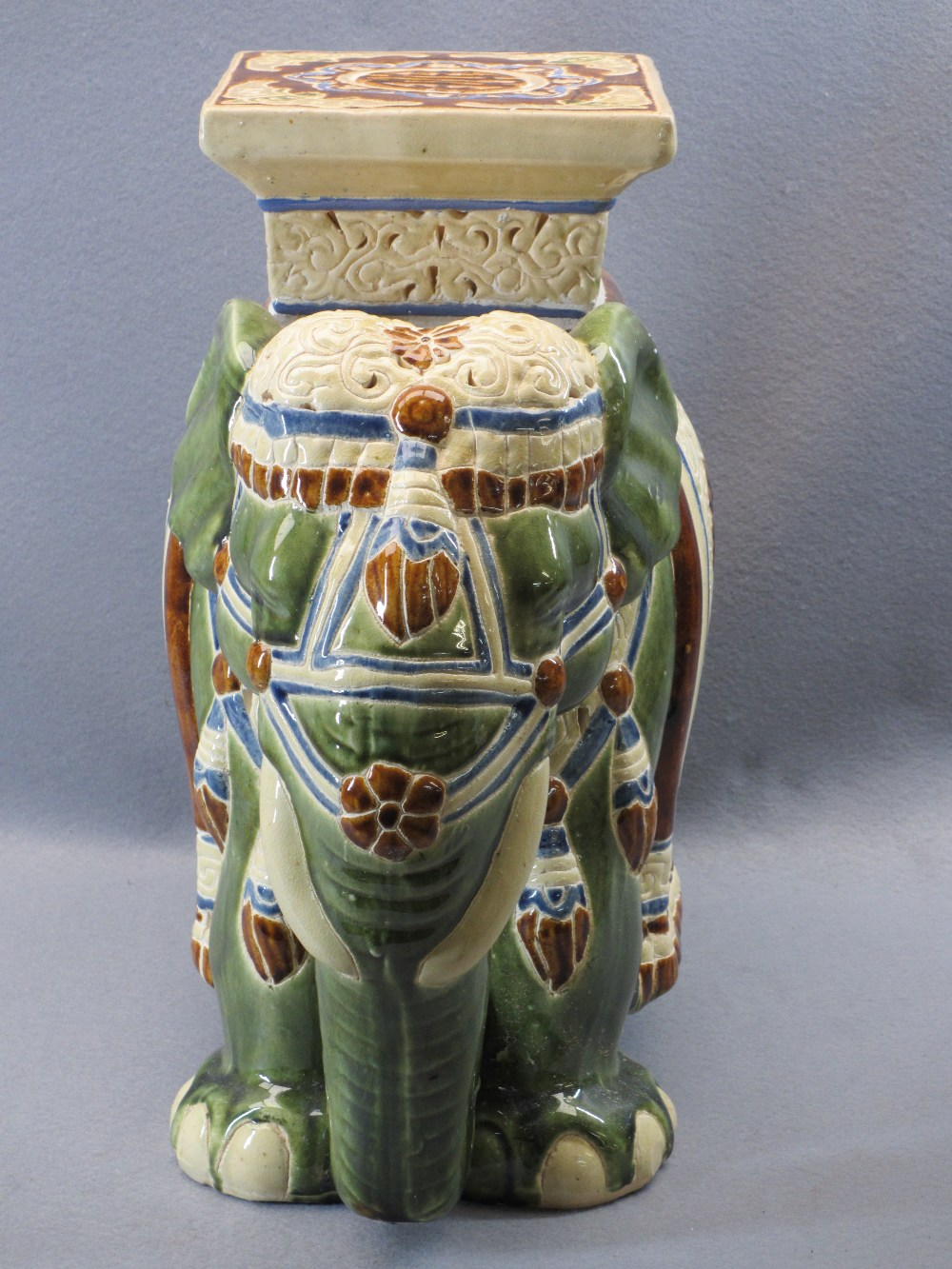 CHINESE POTTERY ELEPHANT GARDEN SEAT - 43.5cms H, 46cms L - Image 2 of 5