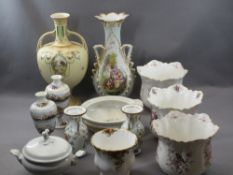 ENGLISH & CONTINENTAL POTTERY VASES & PLANTERS, ETC