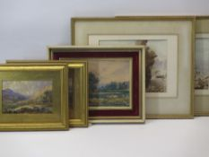PEN, INK & WASH DRAWINGS, a pair - possibly early 19th Century, one titled 'Snowdon from Capel