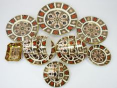 ROYAL CROWN DERBY 1128 PATTERN CABINET PORCELAIN, 19 PIECES - to include a 21.5cms side plate, 16cms