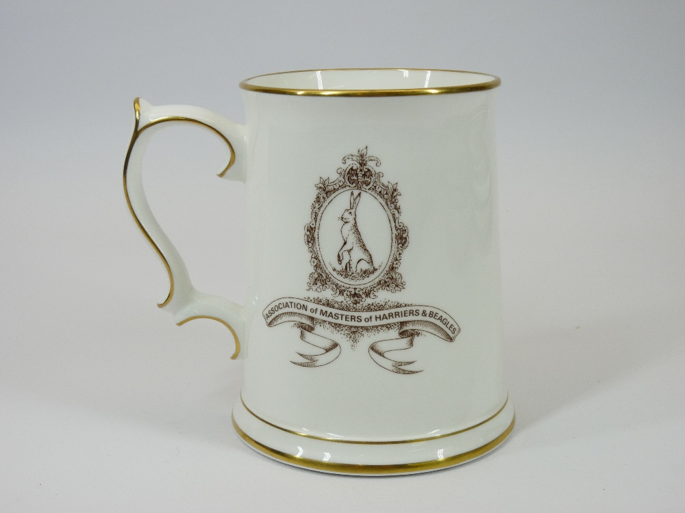 COMMEMORATIVE TANKARD, WILLOW PATTERN & OTHER BLUE & WHITE TABLEWARE and a Wedgwood decorative - Image 3 of 3