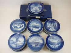 ROYAL COPENHAGEN CHRISTMAS COLLECTORS PLATES (44) - years include 1958, 1959, 1960 - 1969, 1970 -