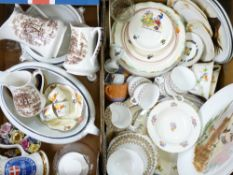 VINTAGE TEA & DINNERWARE, Noddy and Yogi Bear nursery China, ETC (2 boxes)