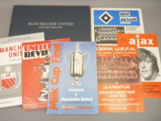 MANCHESTER UNITED FOOTBALL INTEREST, EPHEMERA - A personally presented history of the club from 1909