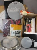 *MUSIC SHOP STOCK - boxed and loose drumheads, drum mallet and a large quantity of Stagg maple and