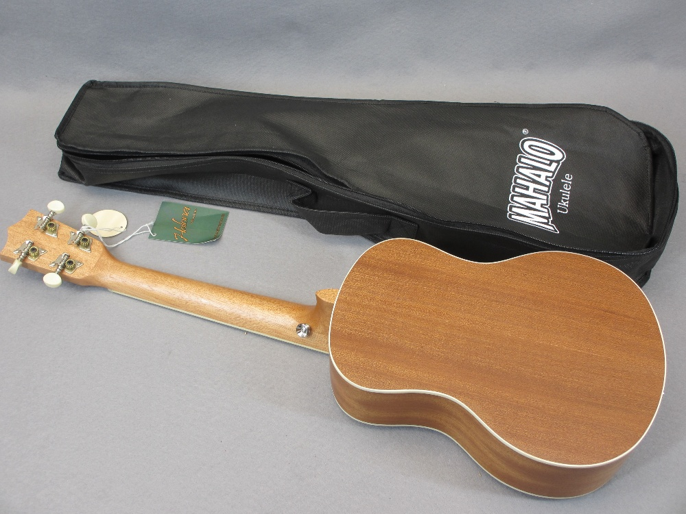 *MUSIC SHOP STOCK - Taiga & Halona ukuleles (3) including a Taiga Coral Model T-32 with canvas case, - Image 7 of 7