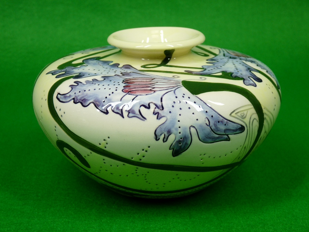 COBRIDGE & BLACK RYDEN VASES (2) - to include a 9cms H squat vase (plum) on a mushroom ground - Image 4 of 6