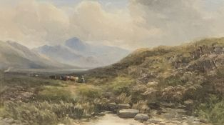 EDMUND MORISON WIMPERIS V.P.R.I 1835-1900 watercolours (2) - one titled verso 'Cows returning for