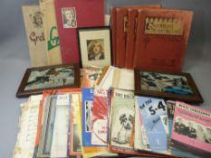 GRETA GARBO SCRAPBOOKS (3), Cambrian Minstrelsie music books (4) - Welsh songs, other sheet music