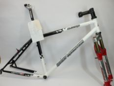 ROCKY MOUNTAIN BLIZZARD 18IN CYCLING FRAME, new and used parts, ETC, the frame marked 'Reynolds