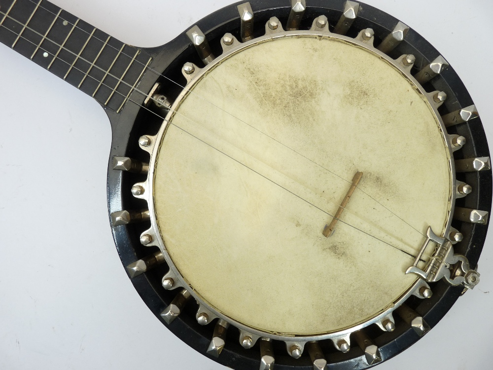 THE BARNES MULLINS PERFECT NO 1 BANJO IN A FITTED LEATHER CASE - Image 2 of 5