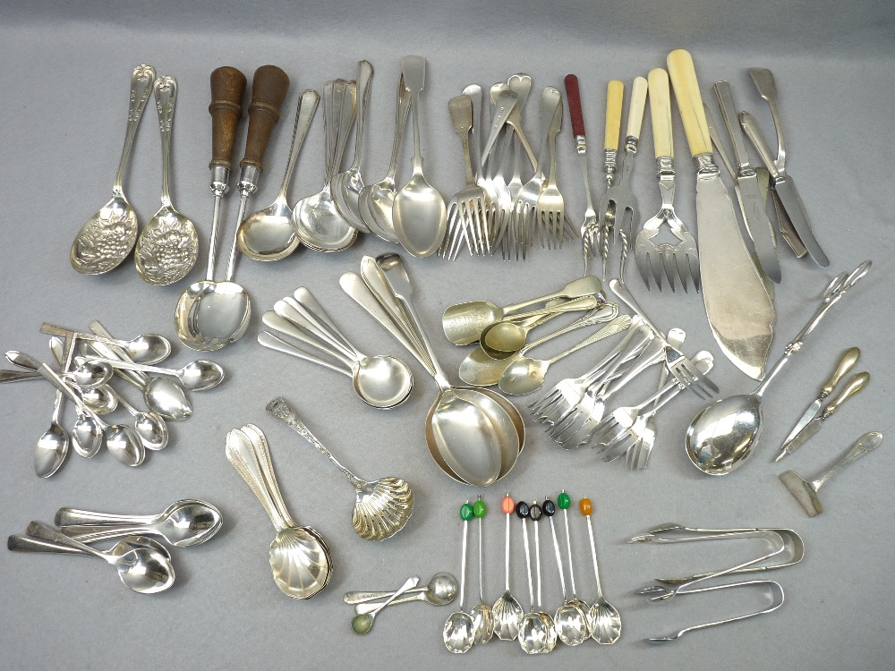 CASED & LOOSE EPNS & OTHER CUTLERY - a good mixed quantity - Image 5 of 6