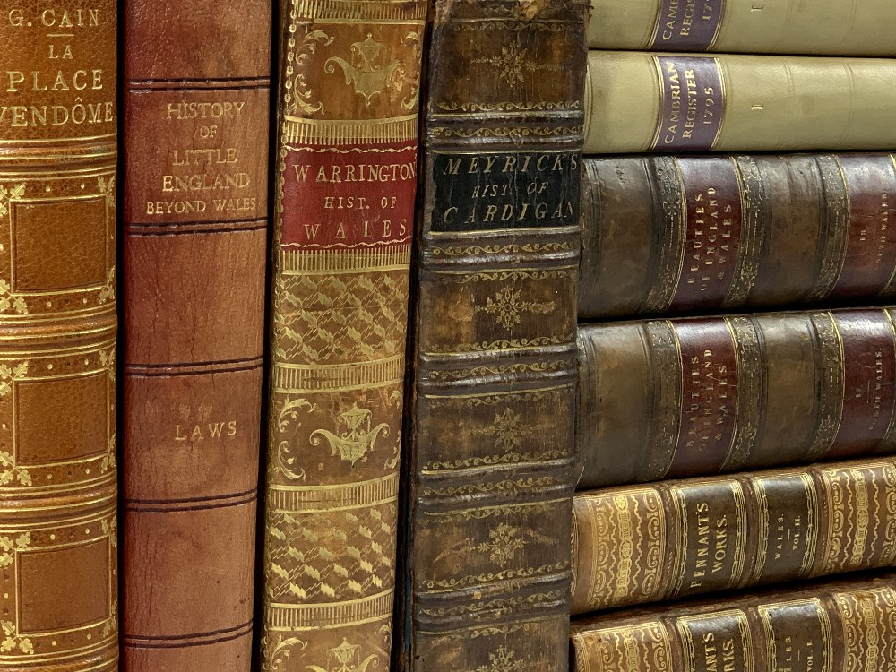 FINE ONE-OWNER COLLECTION OF MAINLY WALES/WELSH RELATED ANTIQUARIAN & HISTORICAL BOOKS
