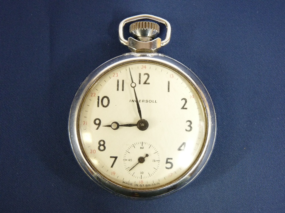 LADY'S & GENT'S WRISTWATCHES and an Ingersoll chromed nickel pocket watch - Image 2 of 2