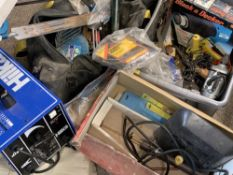 GARAGE/WORKSHOP TOOLS - to include a Hilka Arc Welder, boxed SIP brazing kit, power drill, Black &