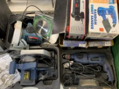 CASED, BOXED & LOOSE POWER TOOLS & ACCESSORIES to include a Bosch PKS46 circular saw, Powercraft