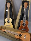 *MUSIC SHOP STOCK - Taiga & Halona ukuleles (3) including a Taiga Coral Model T-32 with canvas case,