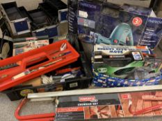 MIXED ELECTRICAL & OTHER TOOLS - a cased Parkside sabre saw, cordless screwdriver, mini tool kit,