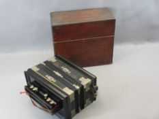 GERMAN VINTAGE ACCORDION IN WOODEN BOX marked 'Imperial Challenge Vox Humana', Imperial Accordion