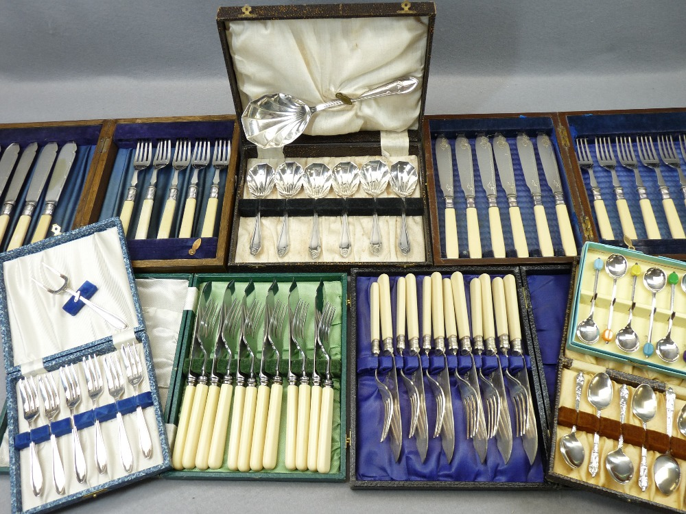 CASED & LOOSE EPNS & OTHER CUTLERY - a good mixed quantity