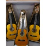 *MUSIC SHOP STOCK - Classical guitars (3) to include a 3/4 size Tanglewood Discovery Model No DBT12,