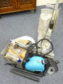 KIRBY VACUUM CLEANER - with boxed and loose quantity of attachments, electric steam cleaner and a