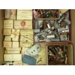 VINTAGE RADIO VALVES, Capacitors and other related spares, a good mainly boxed quantity including