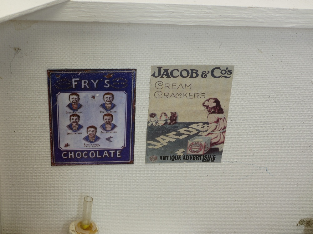 MID 20TH CENTURY FOLK ART MODEL OF A GROCER'S SHOP - complete with three carved ladies, boxes of - Image 4 of 4