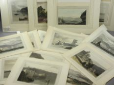 WILLIAM DANIELL RA aquatints (16) unframed Early 19th Century depicting various Port and Coastal