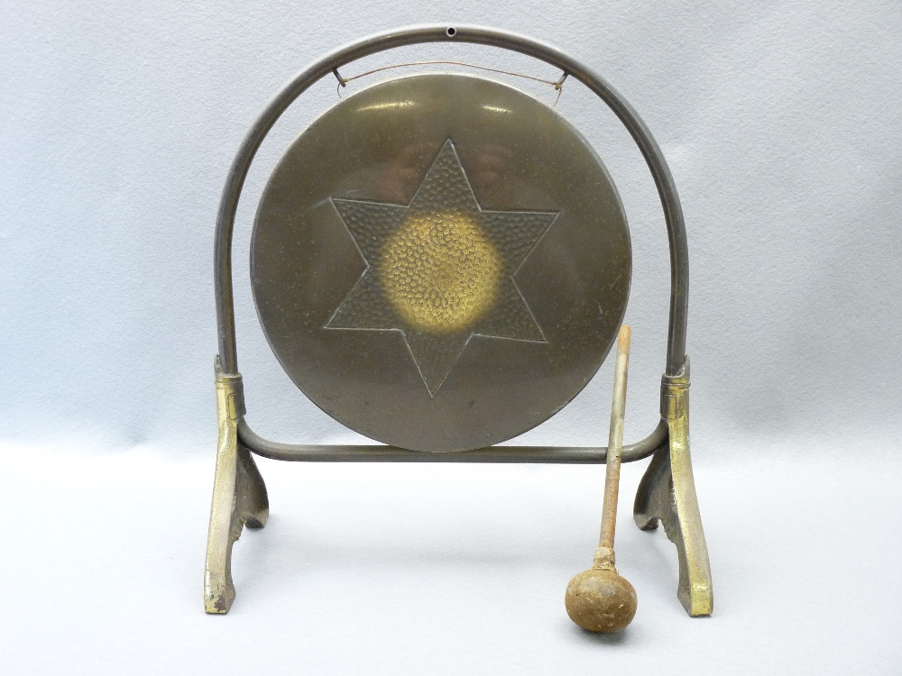 SHIRE HORSE TRIPLE BELL SWINGERS WITH PLUMES, vintage dinner gong, brass and other Persian style - Image 4 of 4