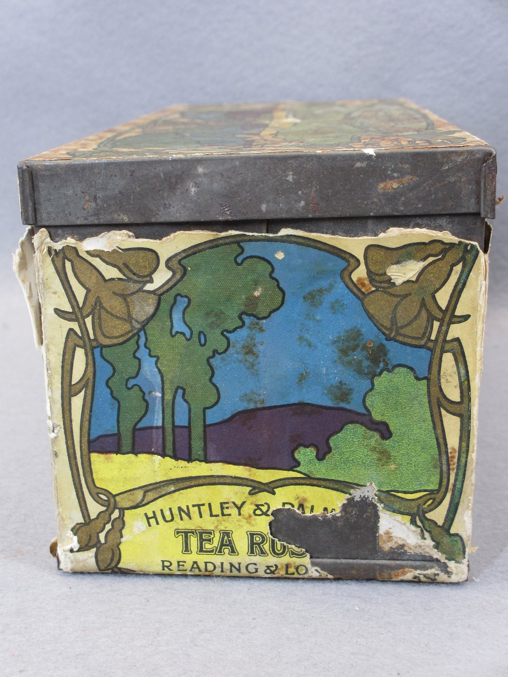 EP & OTHER CUTLERY - in a rare paper covered Huntley & Palmer's Tea Rusks tin, Art Nouveau style - Image 6 of 7