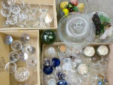 VINTAGE & LATER GLASSWARE - a good mixed assortment of drinks ware and display items including a