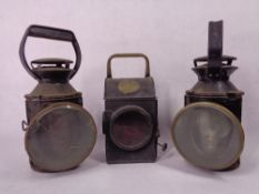 RAILWAY & TRANSPORT LAMPS, A PAIR marked B. R and another, 1941 S N L W Ltd