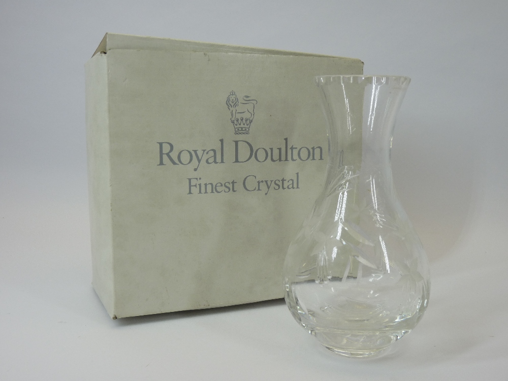 DARTINGTON CRYSTAL DRINKING GLASSES - one dozen mixed in original boxes along with a boxed Royal - Image 3 of 3