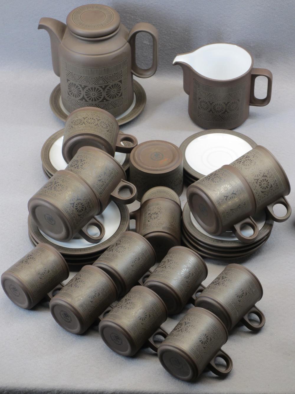 LANCASTER VITRAMIC HORNSEA POTTERY, TEA & COFFEE SET - 30 pieces Palatine 1977