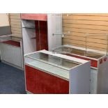 COUNTERTOP DISPLAY CABINETS (3), glass box display units (2½) and a standing display unit with glass