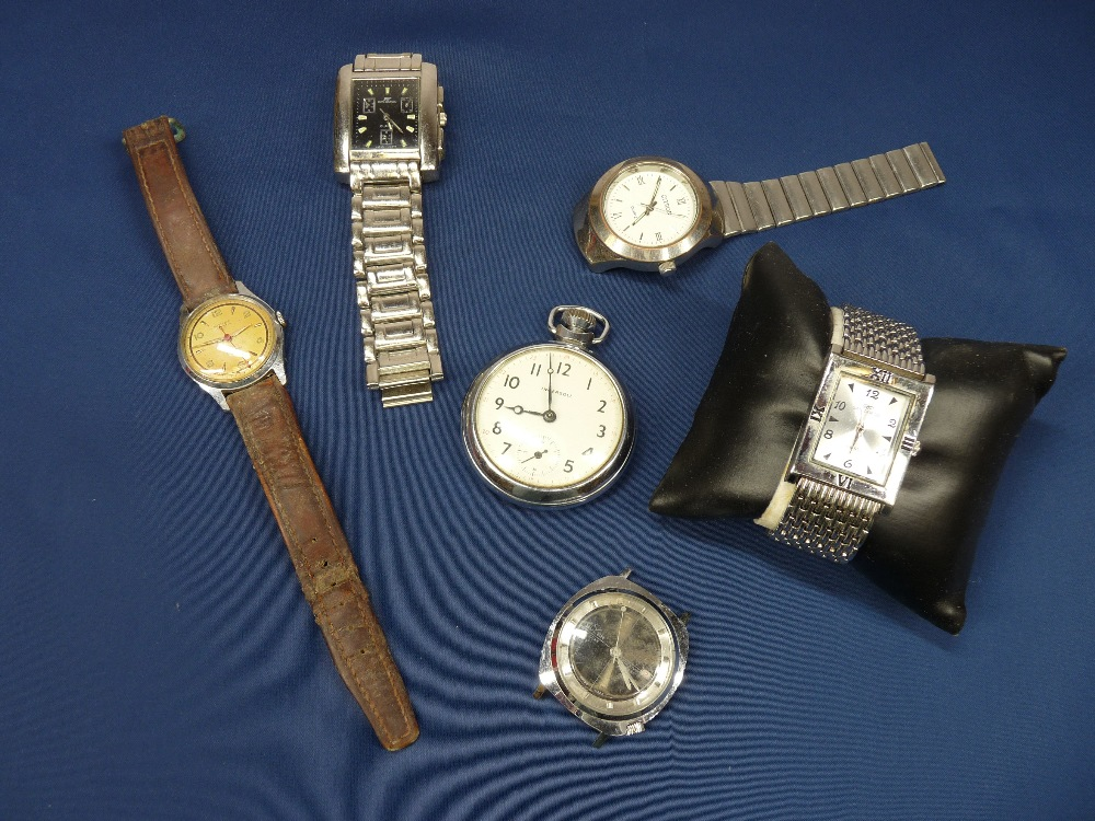 LADY'S & GENT'S WRISTWATCHES and an Ingersoll chromed nickel pocket watch
