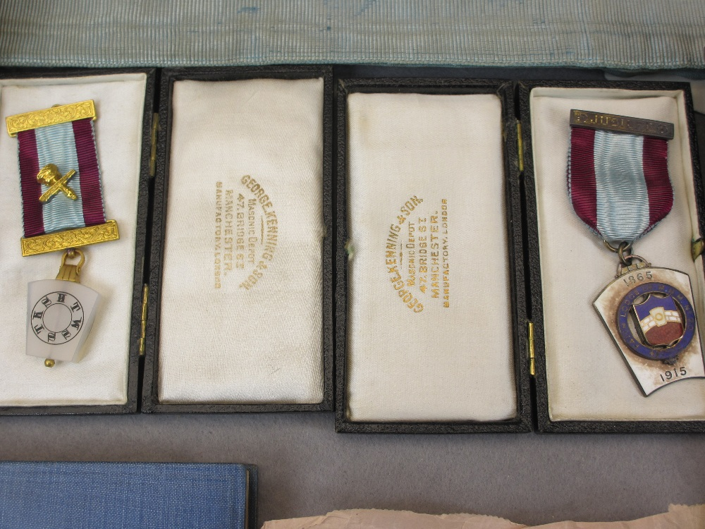 MASONIC MEMORABILIA - including sterling and hallmarked jewels, the largest marked 'Sterling', - Image 2 of 3