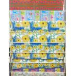 *WRAPPING PAPER DISPLAY RACK & CONTENTS, boxed quantity of celebration cards and a quantity of brown