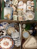 POTTERY, PORCELAIN & GLASSWARE - a mixed group of interesting items (within 3 boxes)