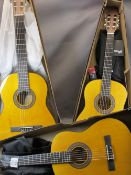 *MUSIC SHOP STOCK - Classical guitars (3) by Stagg including a full size model SCL50 4/4 - NAT,