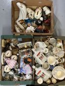 MASONS NAPOLEON COGNAC DECANTERS, commemorative china and an assortment of other china and pottery