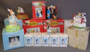 SCHMID boxed wind-up models, Regency Fine Arts 'Garden Friends' collection and Bamforth novelty