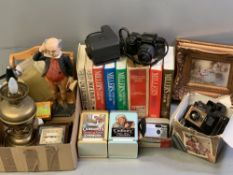 CAMERAS - Pentax SFX, Polaroid, Chinon and miscellaneous items including soda syphon, Mr Pickwick