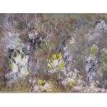 A LYSAGHT mixed media - in the style of Jackson Pollock, abstract scene AND a bundle of other