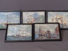 MARITIME RELATED PRINTS, set of five, neatly framed, 14.5 x 19.5cms AND a large quantity of other