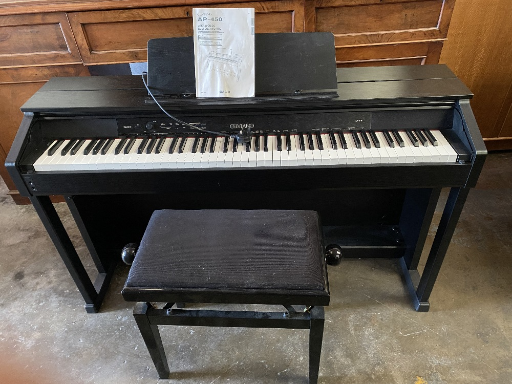 CASIO CELVIANO PIANO - model no. AP450 with modern rise and fall stool - Image 2 of 2